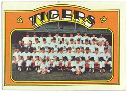 1972 Topps Baseball Cards      487     Detroit Tigers TC